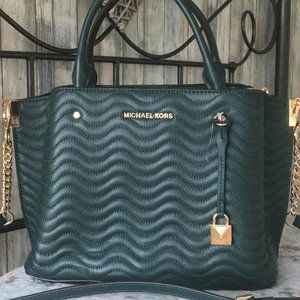 Michael Kors Arielle MD Wavy Quilted Satchel